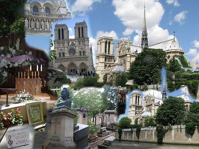 Notre-Dame a hřbitov Pere Lachaise (nahrál: Marie9)