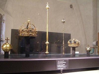 UPSALA - Královské korunovační klenoty, běžně přístupné za nepatrný finanční obnos. (nahrál: josef Vágner)