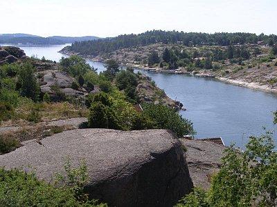 Pobřeží Falkenberg - Nádherné pobřeží nad Goteborgem směr Tanum silnice 163 ne E6 (nahrál: josef Vágner)