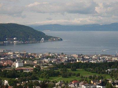 Trondheim - výhled z vyhlídkové věže